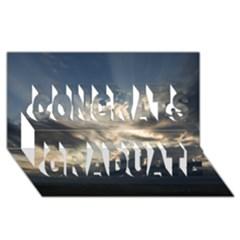 Heaven Rays Congrats Graduate 3d Greeting Card (8x4)