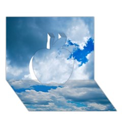 Cumulus Clouds Apple 3d Greeting Card (7x5)