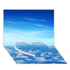 Clouds Heart Bottom 3d Greeting Card (7x5)