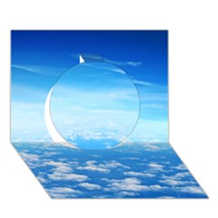 Clouds Circle 3d Greeting Card (7x5)  by trendistuff