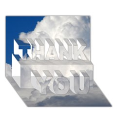 Big Fluffy Cloud Thank You 3d Greeting Card (7x5)  by trendistuff