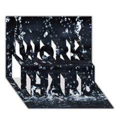 Autumn Rain Work Hard 3d Greeting Card (7x5)
