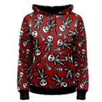 Cute Skeleton Pattern Women s Pullover Hoodie