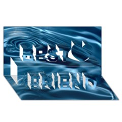 Water Ripples 1 Best Friends 3d Greeting Card (8x4)