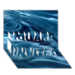 Water Ripples 1 You Are Invited 3d Greeting Card (7x5)