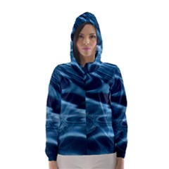 WATER RIPPLES 1 Hooded Wind Breaker (Women)