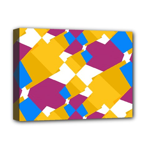Layered Shapes Deluxe Canvas 16  X 12  (stretched)  by LalyLauraFLM
