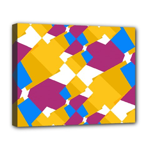Layered Shapes Deluxe Canvas 20  X 16  (stretched) by LalyLauraFLM