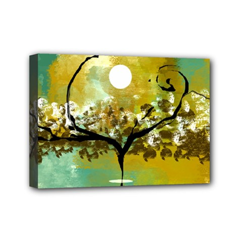She Open s To The Moon Mini Canvas 7  X 5  by theunrulyartist