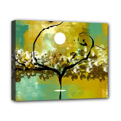 She Open s To The Moon Canvas 10  X 8  by theunrulyartist