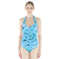 Women s Halter One Piece Swimsuit by BubbSnugg