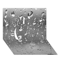 Water Drops 4 Apple 3d Greeting Card (7x5)
