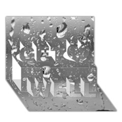Water Drops 4 Get Well 3d Greeting Card (7x5)