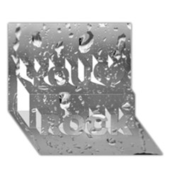 Water Drops 4 You Rock 3d Greeting Card (7x5)