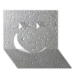 Water Drops 3 Heart 3d Greeting Card (7x5)  by trendistuff