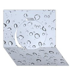 Water Drops 2 Circle 3d Greeting Card (7x5)