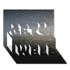 Water Drops 1 Get Well 3d Greeting Card (7x5)