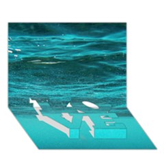 Underwater World Love Bottom 3d Greeting Card (7x5)