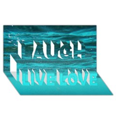 Underwater World Laugh Live Love 3d Greeting Card (8x4)  by trendistuff