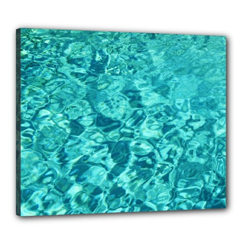 Turquoise Water Canvas 24  X 20  by trendistuff