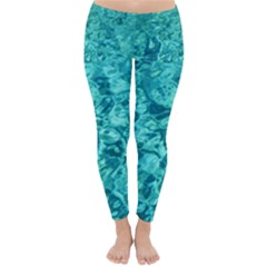 Turquoise Water Winter Leggings  by trendistuff