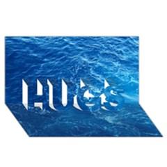 Pacific Ocean Hugs 3d Greeting Card (8x4)