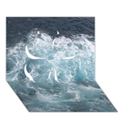 Ocean Waves Clover 3d Greeting Card (7x5)  by trendistuff