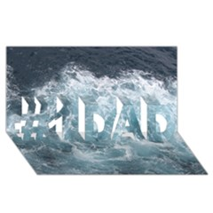 Ocean Waves #1 Dad 3d Greeting Card (8x4)  by trendistuff