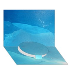 Light Turquoise Ice Circle Bottom 3d Greeting Card (7x5)  by trendistuff