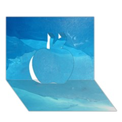 Light Turquoise Ice Apple 3d Greeting Card (7x5)