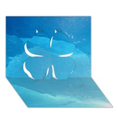 Light Turquoise Ice Clover 3d Greeting Card (7x5)