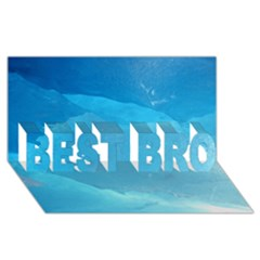 Light Turquoise Ice Best Bro 3d Greeting Card (8x4)  by trendistuff