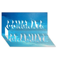Light Turquoise Ice Congrats Graduate 3d Greeting Card (8x4)  by trendistuff