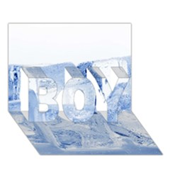 Ice Cubes Boy 3d Greeting Card (7x5)