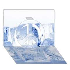 Ice Cubes Peace Sign 3d Greeting Card (7x5)