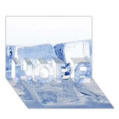 Ice Cubes Hope 3d Greeting Card (7x5)