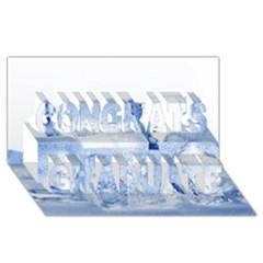 ICE CUBES Congrats Graduate 3D Greeting Card (8x4)  by trendistuff