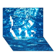 Light On Water Love 3d Greeting Card (7x5)