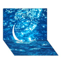 Light On Water Circle 3d Greeting Card (7x5)  by trendistuff