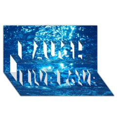Light On Water Laugh Live Love 3d Greeting Card (8x4)