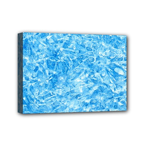 Blue Ice Crystals Mini Canvas 7  X 5  by trendistuff