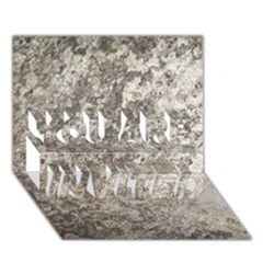 Weathered Grey Stone You Are Invited 3d Greeting Card (7x5)