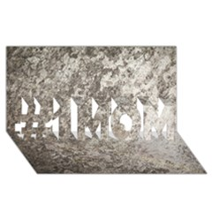 Weathered Grey Stone #1 Mom 3d Greeting Cards (8x4)