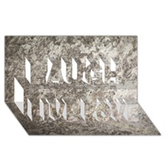 Weathered Grey Stone Laugh Live Love 3d Greeting Card (8x4)