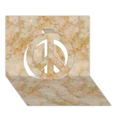 Tan Marble Peace Sign 3d Greeting Card (7x5)