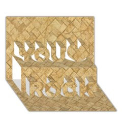 Tan Diamond Brick You Rock 3d Greeting Card (7x5)