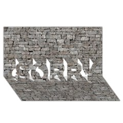Stone Wall Grey Sorry 3d Greeting Card (8x4)  by trendistuff