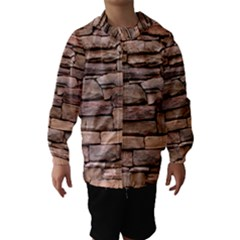 Stone Wall Brown Hooded Wind Breaker (kids)