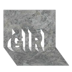 Silver Travertine Girl 3d Greeting Card (7x5)