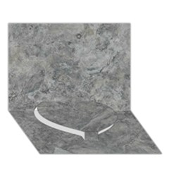 Silver Travertine Heart Bottom 3d Greeting Card (7x5)